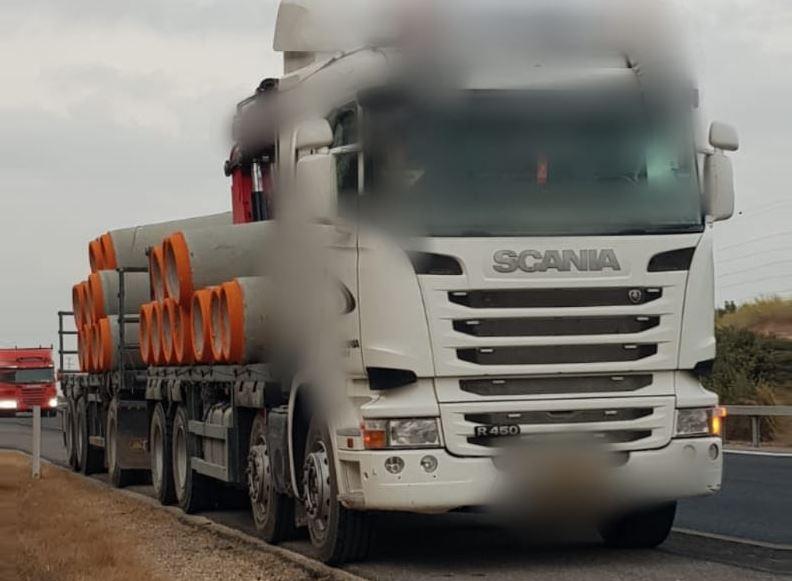 040 – משאית נתפסה על ידי אגף התנועה – דוברות המשטרה