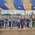 השאירו טעם של עוד: תזמורת המשטרה ניגנה בפארק נוף ים באור עקיבא [וידאו]