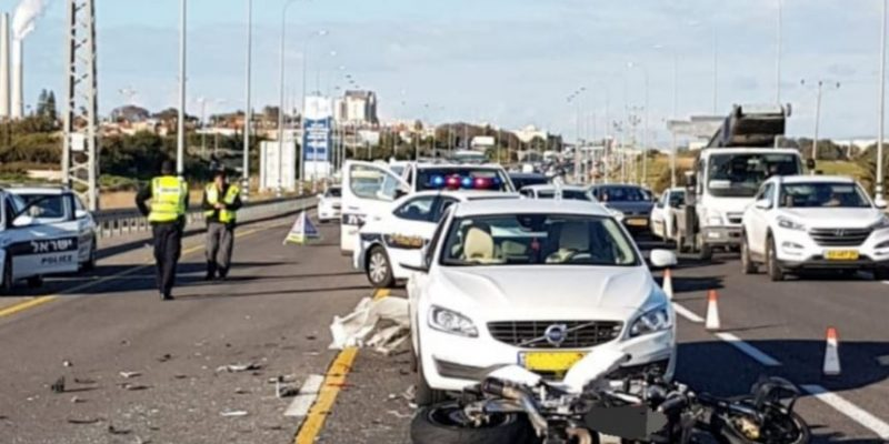 תאונת אופנוע בכביש החוף