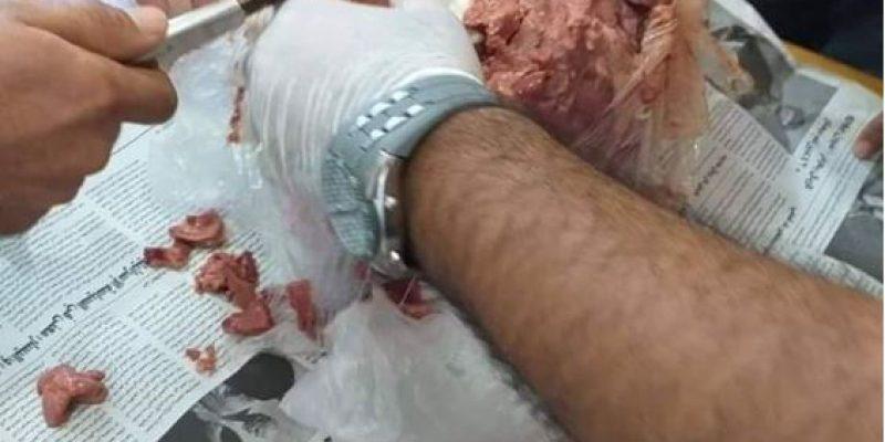 סמים הוסלקו בתוך בשר קפוא - צילום העולם הערבי