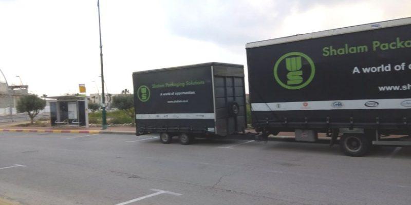 משאיות חוסמות שדה ראיה ברחוב הכרמל