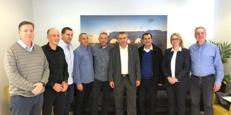ראשי הרשויות עם השר אלקין בירושלים, אמש || צילום: דוברות המשרד להגנת הסביבה