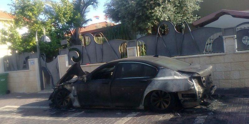 044 - רכב עלה באש בגני רבין באור עקיבא