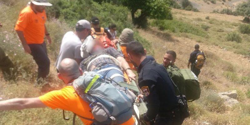 056 - חילוץ פצוע ביער כרם מהרל - דוברות המשטרה